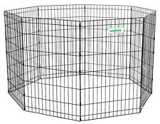 Black EliteField Exercise Pen with 8 GROUND ANCHORS Crate Cage Kennel 5 Sizes