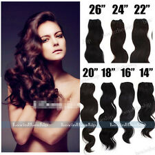 """100g Brazilian Remy Body Wave Curly Weaving Human Hair Extensions Weft 14""""-26"""""""