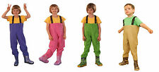 Kids Fishing Chest Waders, Fishing Boots NEW! Size 10-2 UK/ 28-35 EU
