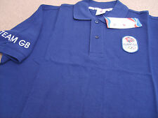 "Official Olympics LONDON 2012 Team GB Men's Polo Shirt (Navy) Size: L (42-44"")"