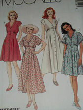 McCALL'S #8181 - LADIES CUTE FRONT BUTTON EMPIRE BODICE DRESS PATTERN 4-18 uc