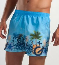 GERONIMO Mens Swimming Fresh Shorts Blue Tropical , Swim shorts, Beach