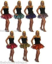 Deluxe 8 Layer Cyber Tutu Neon Fancy Dress Hen Party Girls Night Out  Neon Black