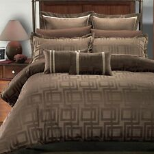 Complete Duvet Cover Set! Cappuccino or Ivory Beige Bed set! Full Queen