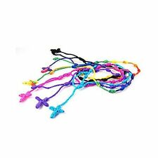 New Handmade Rosary Knotted Cross Pulseras Decenario Bracelet 17 COLORS - DB10PK
