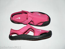Nike Sunray Protect water shoes Youth girls sandals new pink 344992 600