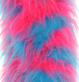 LONG PILE FAUX FUR - COW TURQUOISE PINK - VARIOUS SIZES