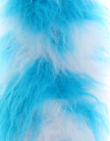 LONG PILE FAUX FUR - COW TURQUOISE WHITE - VARIOUS SIZES