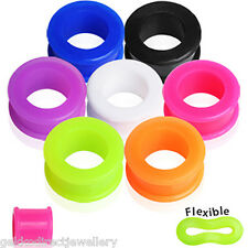 Double Flared Flexible Ear Flesh Tunnel / Plug / Expander - Choose Size