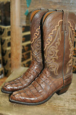 Lucchese Brown Exotic Caiman Tail Boots T3187 .R4