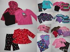 Jumping Beans NWT Infant Girl Outfit Set/Lot Pants Fleece Babydoll Shirt CHOICE!