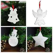 PERSONALISED CHRISTMAS TREE DECORATION ORNAMENT BAUBLE PRESENT UNUSUAL GIFT IDEA