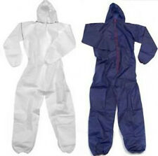 Hymac Disposable Coveralls Overalls Navy White Boilersuit Hood Painters DSP111