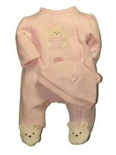 Girls Infant Baby Soft Warm Bear Footie Sleeper Coverall Pajama w/Cap Little Me