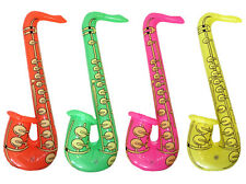 80s Party Decoration - One Inflatable Saxophone - 3 colours available