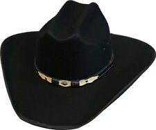New Black Faux Felt Cattleman Cowboy Cowgirl Hat Western Kids Sizes