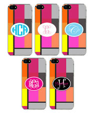 Personalized Brick Style Monogrammed iPhone 5 Custom Sticker on Hard Case Cover