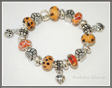 "EUROPEAN STYLE CHARM BEAD BRACELET ""Dog Mom"" theme"