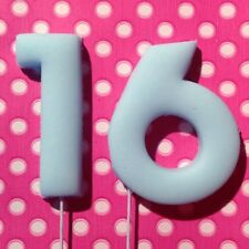 3D Edible 4cm 40mm Wired NUMBERS Cupcake Cake Topper sugarpaste Decoration icing