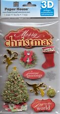 Paper House 3D CHRISTMAS themed stickers~Awesome!!~Fast ship!