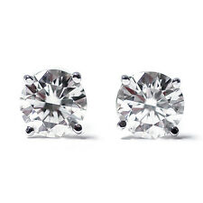 1.00 Ct Round or Princess Cut 14K Gold Diamond Stud Earrings