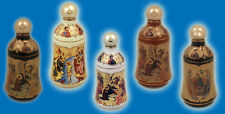 Porcelain Holy Water Bottle with Orthodox Christian Icons