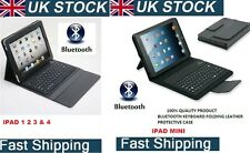 Leather Case with Built in stand & Bluetooth Keyboard for iPad 1 2 3 4 & Mini UK