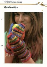 Quick Mitts ~ Women's Mittens, Quick 'n Easy Crocheting pattern