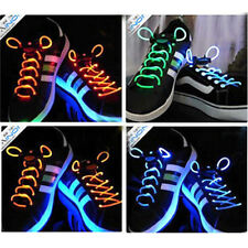 Hot Light Up LED Waterproof Shoelaces Party Flash Glow Stick Strap Skating Shoes