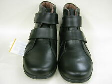EASY B LADIES ANKLE BLACK VELCRO BOOTS EE FITTING LEGACY
