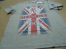 Official Olympics London 2012 Team GB Men's Grey Marl 100% Cotton T-Shirt (TR24)