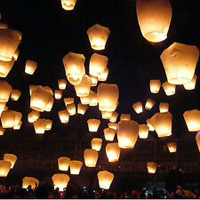 LOTS 10 20 pcs WISH BALLOONS SKY FIRE CHINESE LANTERNS PARTY WEDDING Magic FLY