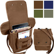 Military Heavyweight Canvas Map Case Shoulder Bag