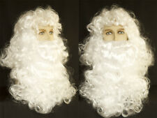 Santa Clause Wig and Medium Length Beard with Mustache Costume Wigs Men's Wig