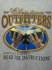 Read The Instructions Christian Outfitters Witness Tee Bible Lord God T-Shirt
