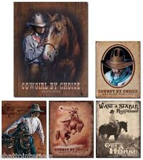 "ONE (1) ~NOSTALGIC STYLE WESTERN TIN SIGN~ 16"" ~YOUR CHOICE OF SIGN~NEW!"