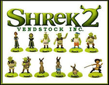 NEW RETIRED SHREK 2 MOVIE MINI COLLECTION FIGURE CAKE TOPPERS DECORATIONS GIFTS