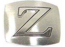 Brand New Novelty Chrome Colored Initial Belt Buckle - FREE SHIPPING!! Gift Item