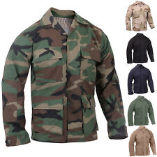 Military Rip-Stop Long Sleeve Fatigue BDU Shirt