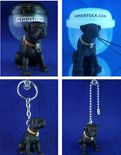 LABRADOR RETREIVER #37 HOOD HOUNDS DOG FIGURE DANGLER KEYCHAIN LIGHT LAMP PULL