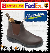Blundstone Mens 550 Work Dress Boots Shoes Soft Toe Brown Leather AU Size