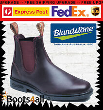 Blundstone Work Dress Riding Chelsea Boots Brown Leather Chisel FREE Express 059