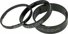 """Acor Alloy 1 1/8""""Headset Spacers Bag of 10 Size 3mm 5mm 10mm 15mm Silver Black"""