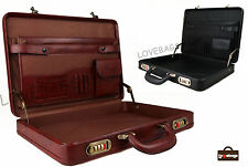 New Quality Slim Business Briefcase Attache Executive Work Pilot Carry Case Bag