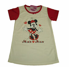 GIRLS NIGHTIE PYJAMAS DISNEY MINNIE MOUSE 2-8 YEARS OLD