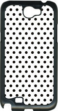 Small White and Brown Polka Dots on Samsung Galaxy Note II 2 Hard Case Cover