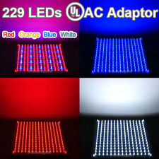 Pick One Red Blue OrangeWhite Hydroponic LED Grow Light Lamp 225/120/110V 229pcs