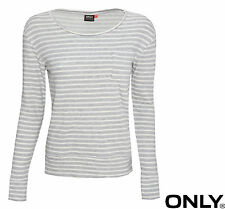 ONLY DAMEN OBERTEIL TOP, PULLOVER JENNY LS POCKET STRIPE SWEAT GR. XS,S, M, L,XL