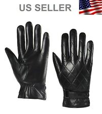 Men's Leather Gloves Black Great Christmas Gift Present