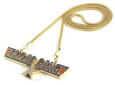 """ICED OUT WIZ KHALIFA TAYLOR GANG PENDANT & 36"""" CHAIN NECKLACE HIPHOP"""